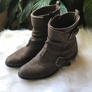 Vintage Style Ankle Booties with Buckles